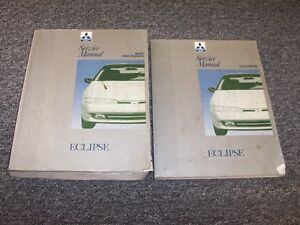 1992 1993 mitsubishi eclipse shop service repair manual set gs gsx rh ebay com 1997 Mitsubishi Eclipse 1992 Mitsubishi Eclipse Modified