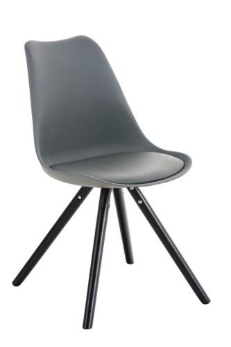 Design Besucherstuhl PEGLEG schwarz mit Lehne Retro Stuhl Konferenz Wartestuhl