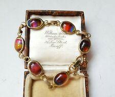 Sarah Coventry Rainbow Glass Gold Tone Bracelet Multi Color