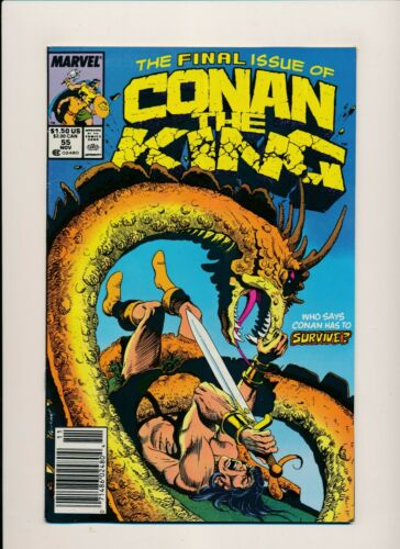 PF825 Marvel FINAL ISSUE OF CONAN THE KING #55 Nov 1989  FINE