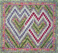 Quilt PATTERN Nancy's Interlocking Bargello Hearts valentine wedding love