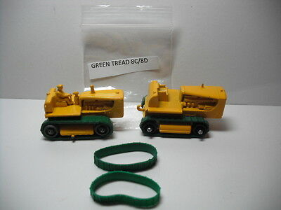 Replacement Tractor Treads for Matchbox Lesney 8c or 18c Caterpillar models