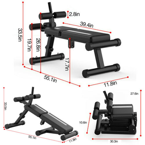 Details about  /❀Folding Design Sit-ups Board Dumbbell bench For Exercises Adjustable Height