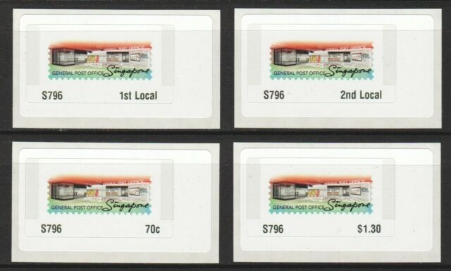 SINGAPORE 2017 GENERAL POST OFFICE GRAND OPENING COMMEMORATIVE POSTAGE LABEL 796