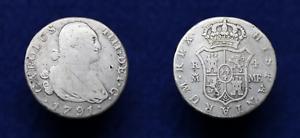 4 Reales de Plata  CARLOS IV  1791  España, Ceca Madrid.  Moneda Colonial