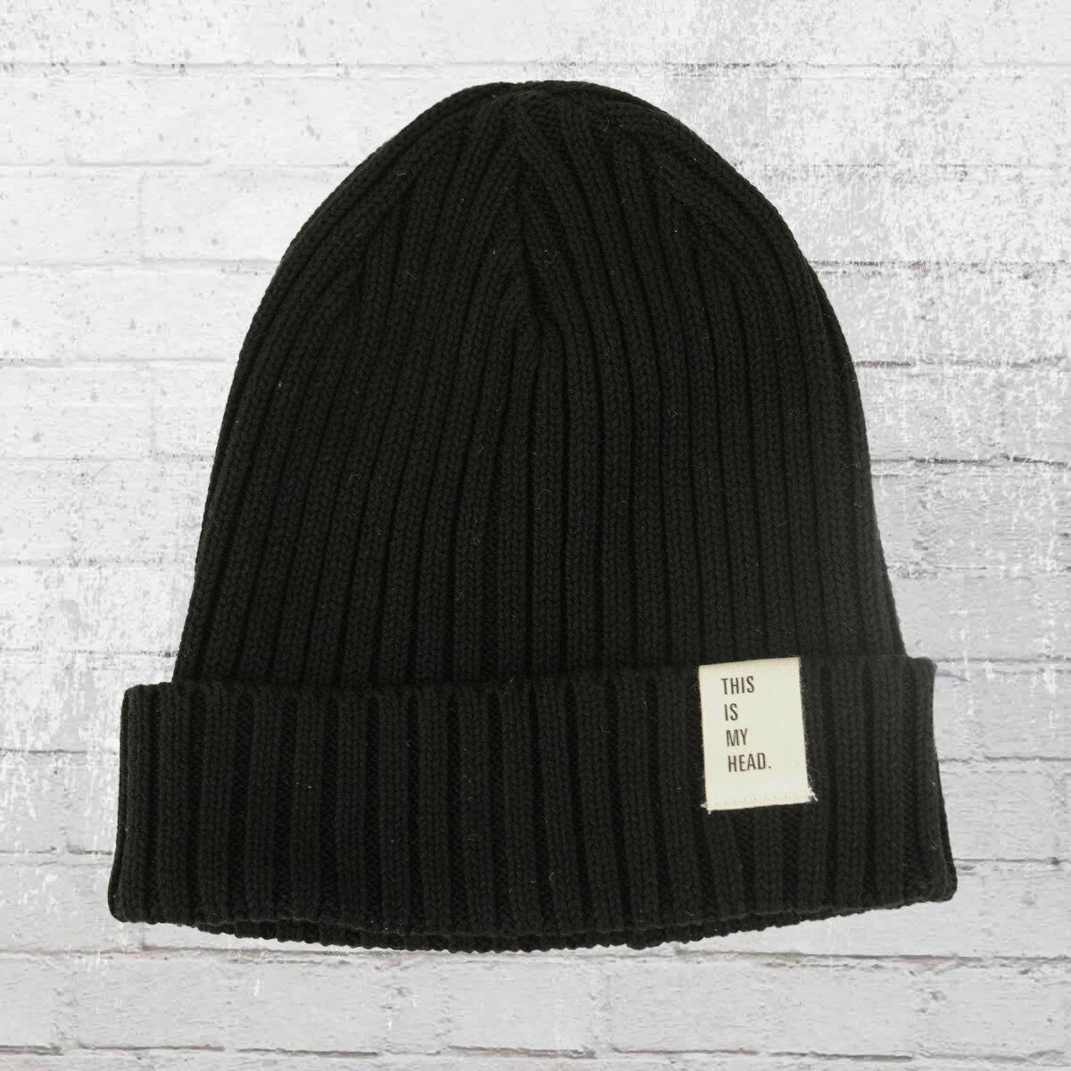 AOP Baumwoll Strick-Mütze My Head Beanie schwarz Knit Hat