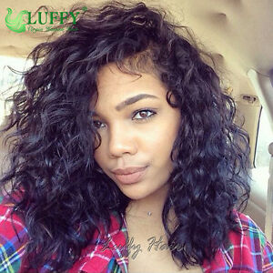 Short-Deep-Curly-100-Human-Hair-13x6-Lace-Fronts-Wig-Pre-Plucked-Full-Lace-Wigs