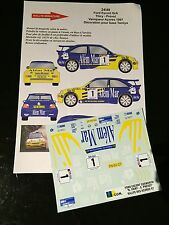 DECALS 1/24 FORD ESCORT BRUNO THIRY RALLYE ACORES 1997 WRC RALLY TAMIYA PORTUGAL