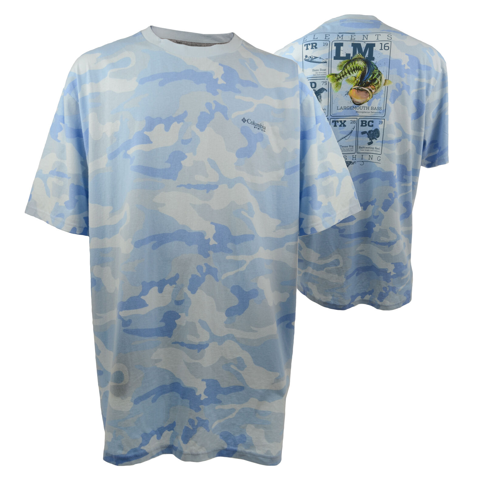 Columbia men 39 s pfg t shirt big n 39 tall size 2xlt 3xlt ebay for Big n tall shirts