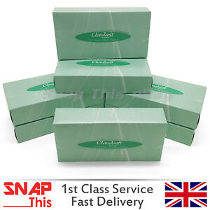 TISSUE-BOXES-ULTRA-SOFT-LUXURIOUS-WHITE-FACIAL-FAMILY-WIPE-TOWEL-HAND-PAPER-100