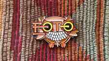 Brown Owl Bot OwlBot Jam Band EDM Concert Tour Enamel Lapel Hat Pin