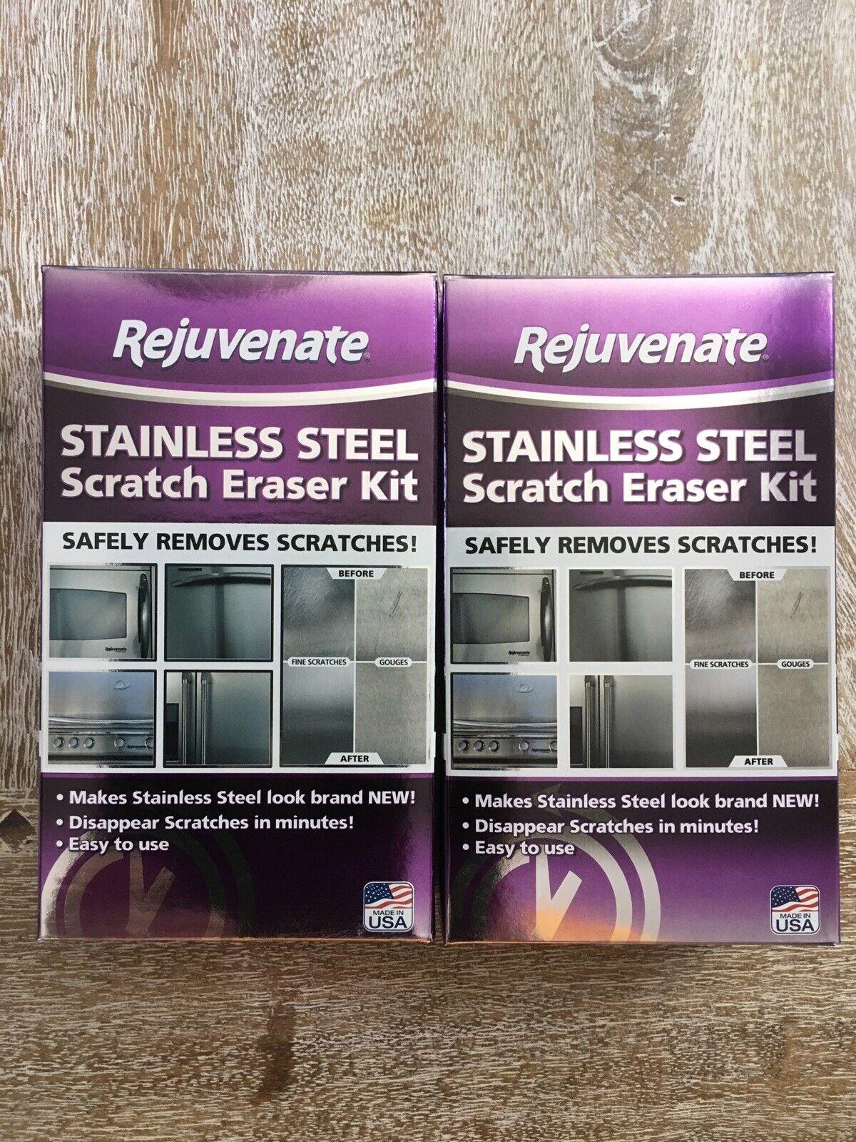 1 Pack Rejuvenate Stainless Steel Scratch Eraser Kit Safely Removes
