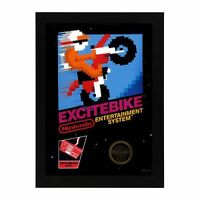 Nintendo Nes Excite Bike Box Cover Framed Photo Game Mancave Decor