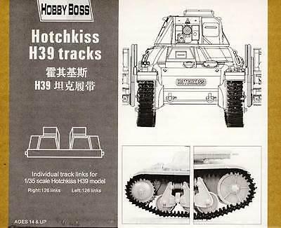 HobbyBoss Tank Tracks Tracks Hotchkiss H39 H.39 Model Kit 1:3 5 NIP Set