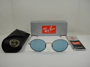 51e8dc44abf RAY-BAN BEAT SUNGLASSES RB3594 9113F7 GOLD FRAME LIGHT BLUE CLASSIC ...