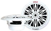 Pyle - Plmr82 - Pair Of 300 Watts 8'' 2 Way White Marine Speakers