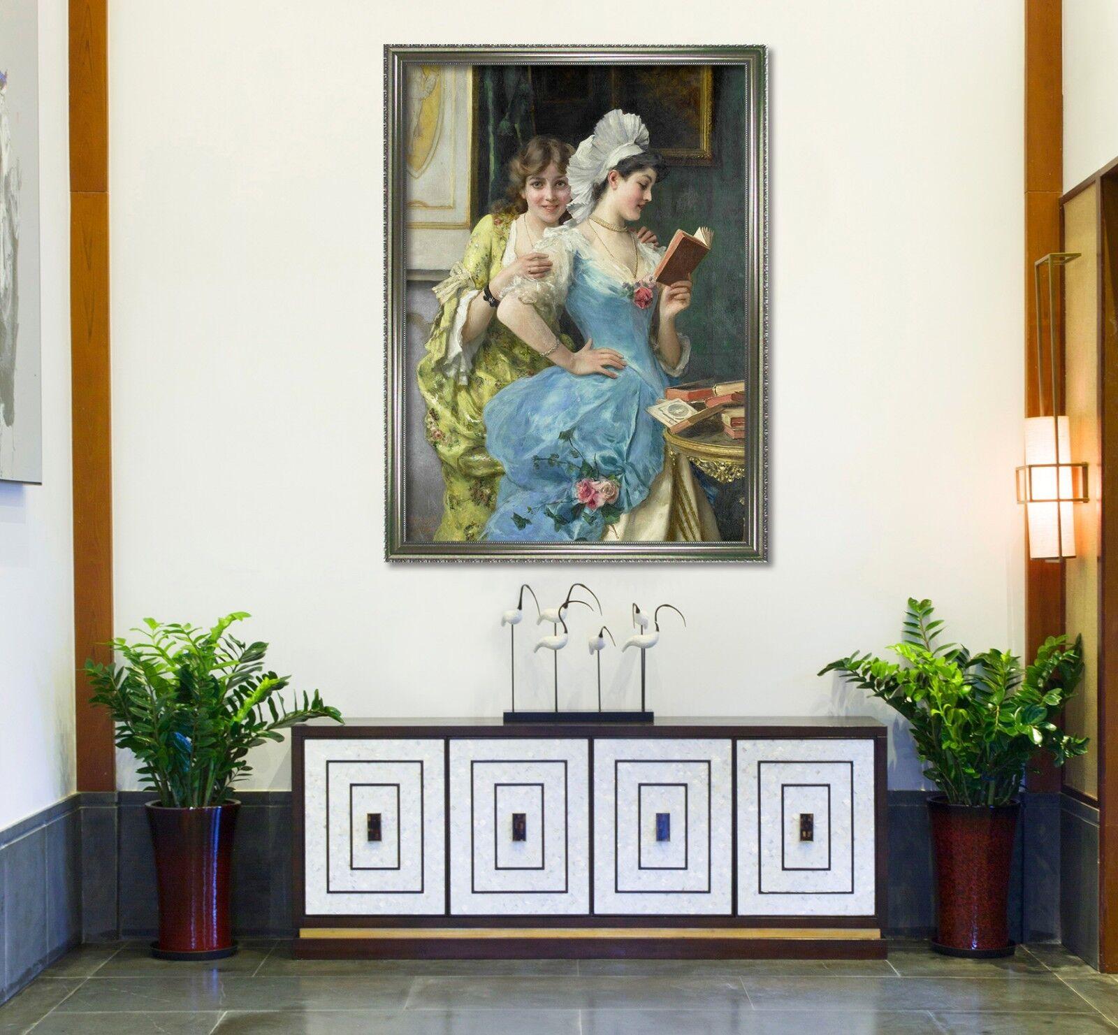 3D Woman Reading Book 47 Framed Poster Home Decor Print Painting Art AJ AU