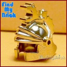 G661A Lego Dragon Fortress Minifigure Crown Helmet - Chrome Gold from 7419 NEW