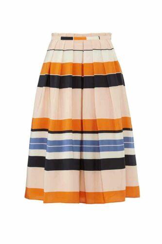 L.K. Bennett Women's Skirt Orange Pink Size 14 Ple