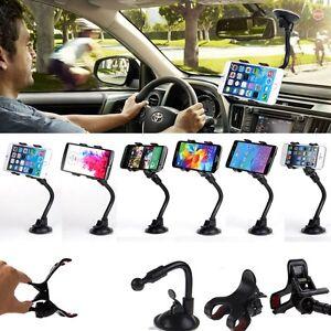 Support-Telephone-de-Voiture-Ventouse-Pare-brise-Universel-iPhone-Samsung-LG-GPS