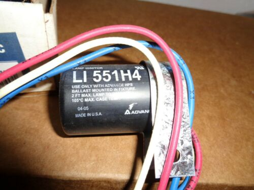 Advance LI551-H4-IC Replacement Ignitor Kit Round Case MH NEW Surplus Ballast