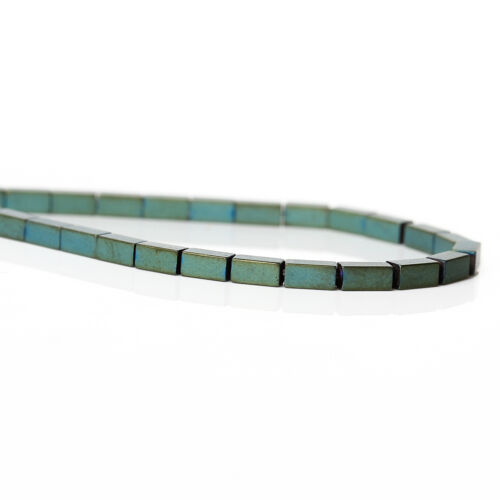1 Enfliade Perles Hématite Rectangle Vert 4mm x 2mm 97PCs//Enfliade