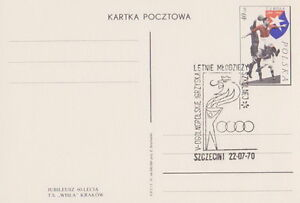Poland postmark SZCZECIN - sport athletic meeting youth - Bystra Slaska, Polska - Poland postmark SZCZECIN - sport athletic meeting youth - Bystra Slaska, Polska