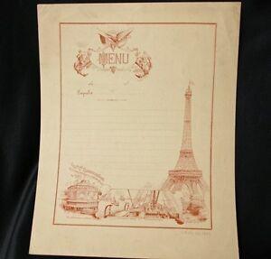 Image Is Loading CGT FRENCH LINE Schutz Design Blank Menu 1889
