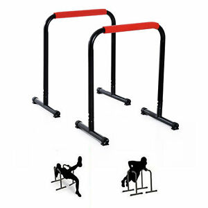 Set-of-2-Dip-Stands-Parallel-Push-up-Bar-Exercise-Body-Workout-Fitness-Home-Gym