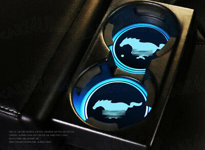 mustang led cup holder lights