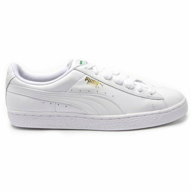 Basket Leather Trainers Court Lace