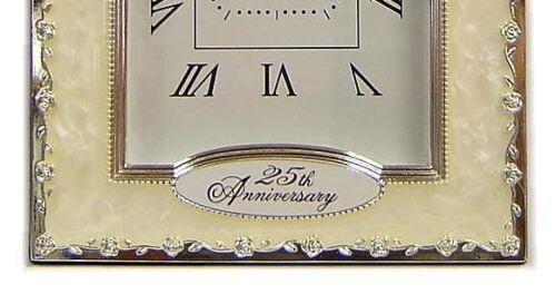 25th anniversay argent mariage montre quartz cadeau présent