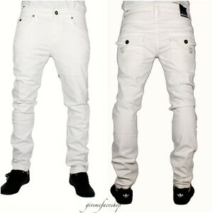 Blanc-homme-jeans-g-skinny-droite-rock-star-coupe-slim-homme-rayures-bleu