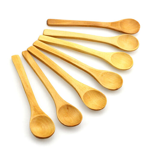6X Kleine Bambus Holzlöffel Dessert Eiscreme Honig Kinder Baby Löffel Geschen D*