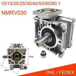 50:1 Worm Worm Gearbox Reducer,Nema23 Flange 11mm Input,NMRV030 Gear for Stepper