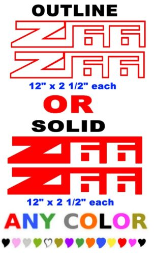 """Z66  stickers decals /""""ANY COLOR/""""  AVALANCHE CHEVROLET CHEVY TRUCK PAIR"""