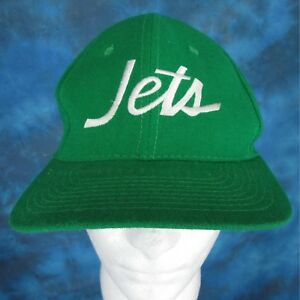 meet 6ba49 0f7ac Image is loading vintage-80s-NEW-YORK-JETS-SPORTS-SPECIALTIES-SCRIPT-