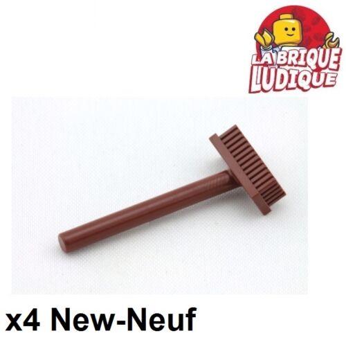 LEGO Bausteine & Bauzubehör Lego LEGO Bau- & Konstruktionsspielzeug 4x Minifig utensil Besen pushbroom braun/rötlich braun 3836 neu