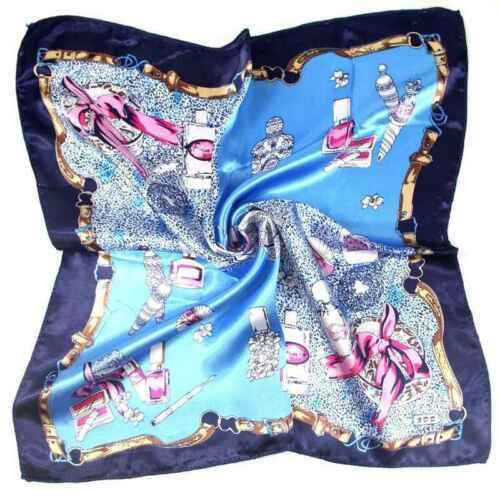 Women Lady Head Neck Hair Tie Pattern Silk Satin Scarf Shawl Wrap Kerchief