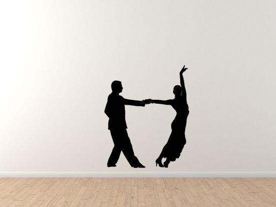 Tango Latin Salsa Samba Dance - Couple Pair Version 4 - Vinyl Wall Decal