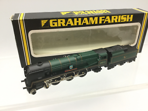 Graham-Farish-151A-N-Gauge-BR-Green-Rebuilt-WC-BB-34012-Launceston
