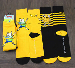 Adventure-Time-Finn-Jack-Mens-Ladies-Cotton-Socks-SIZE-7-13-FREE-SHIPPING