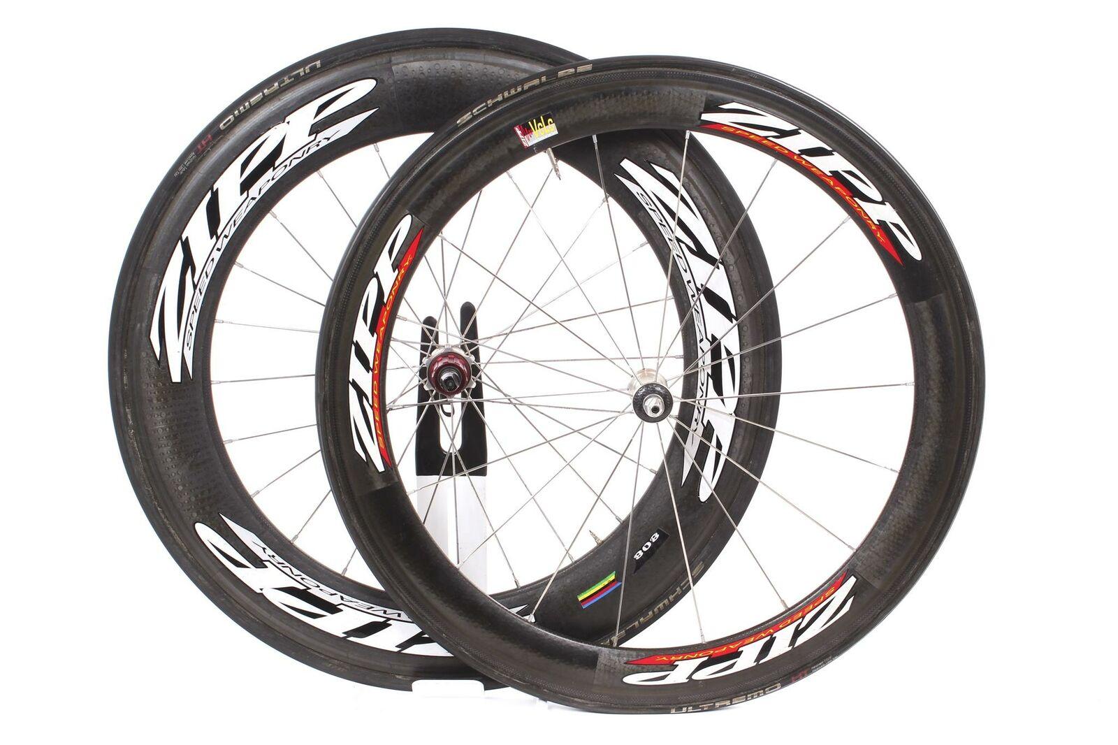 USED Zipp 404  808 700c Carbon Tubular Wheelset 10 Speed Shimano TT Triathlon  the best after-sale service