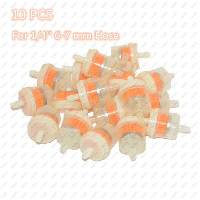 APE RACING Small Universal Fuel Filters for 1//4 Fuel Line Gas Engine Motorcycle Dirt Bike Scooter ATV Quads Pack of 2 Inline Fuel Filter