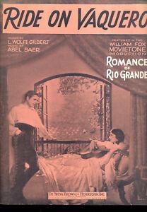 "Romance Of Rio Grande Notenblatt "" Rutscher Vaquero "" Warner Baxter Mary Noten & Songbooks Musikinstrumente"
