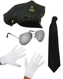 Costume Props Adult Top Gun Sailor Captain Hat White Gloves Aviators Glasses