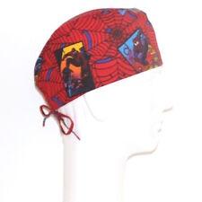 Flying Spiderman on Spider Net theme Scrub Hat