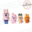 BT21-Character-Cooky-Universe-Standing-Doll-4ea-Set-Official-K-POP-Authentic-MD miniature 1