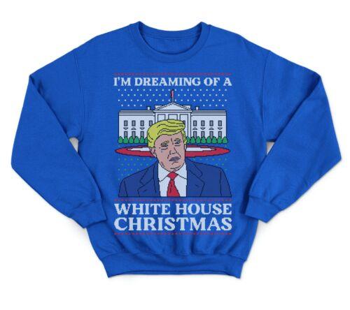 je suis à rêver d/'une maison blanche Noël Pull Sweat Biden Donald Trump