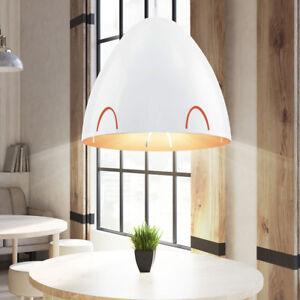 Details Sur Suspension Lustre Luminaire Plafond Orange Blanc Eclairage Salle A Manger E27
